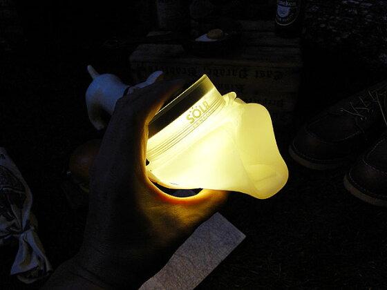 USBチャージ&太陽光充電ができる防水LEDライト レディキロワット限定モデル ソーラーランタン