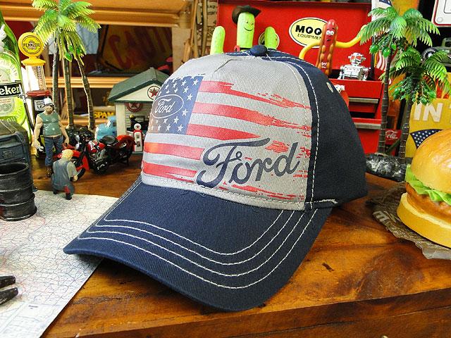 U.S.モーターライセンスキャップ(フォード/星条旗)