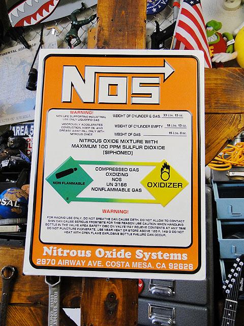 NOSのニトロボンベ看板