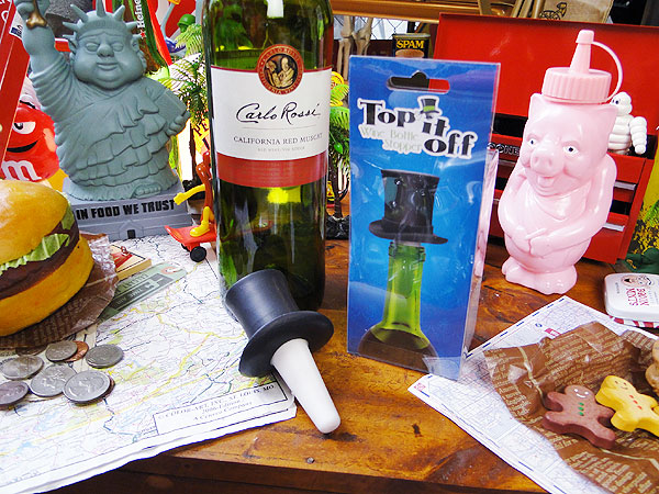 シルクハットのワインボトルストッパー