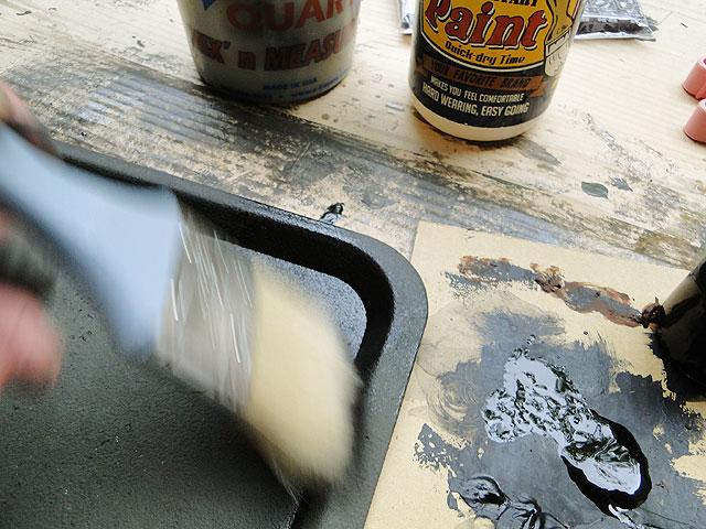 サビサビ塗装用のオリジナル塗料単色(ブラック)100mlサイズ