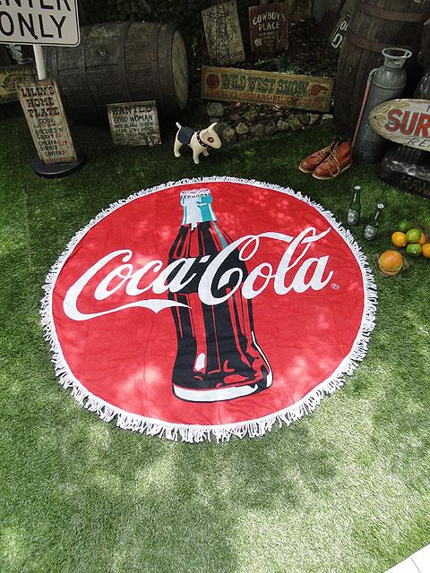 コカ・コーラのラウンドビーチタオル