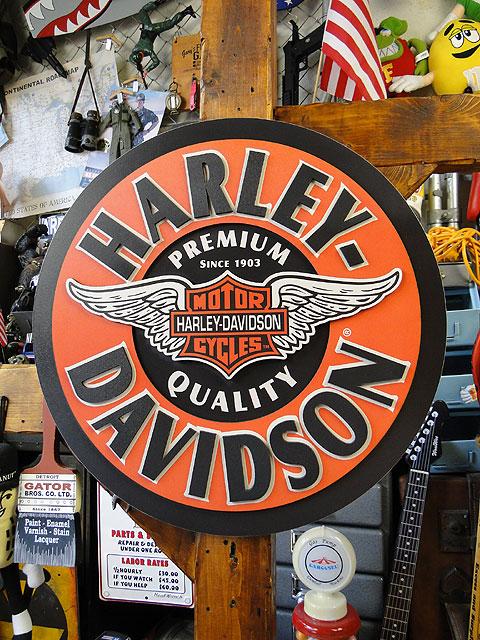 ハーレーダビッドソンのウイング・バー&シールドのパブサイン