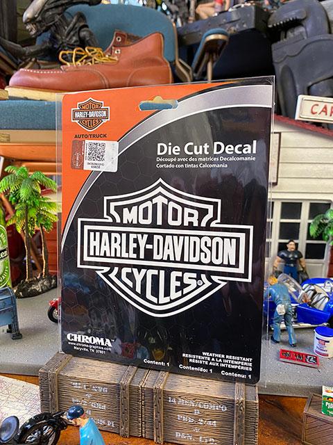 ハーレーダビッドソン オフィシャルステッカー ダイカットデカール(バー&シールド/ホワイト)