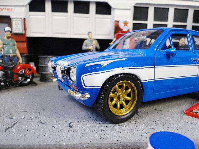 Jada 映画「ワイルドスピード」のダイキャストモデルカー 1/24スケール(ブライアン/1974年式フォード・エスコート)