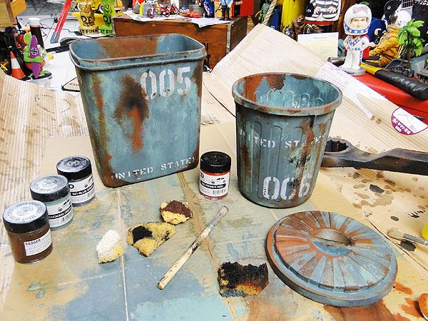 サビサビ塗装用のオリジナル塗料 5色エイジングカラーセット たっぷりサイズ(100ml)