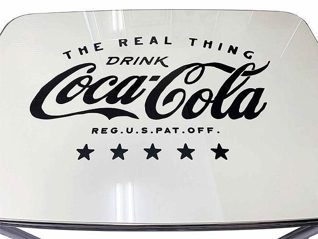 限定モデル コカ・コーラ ダイナーテーブル グラストップ付き(ブラックロゴ)