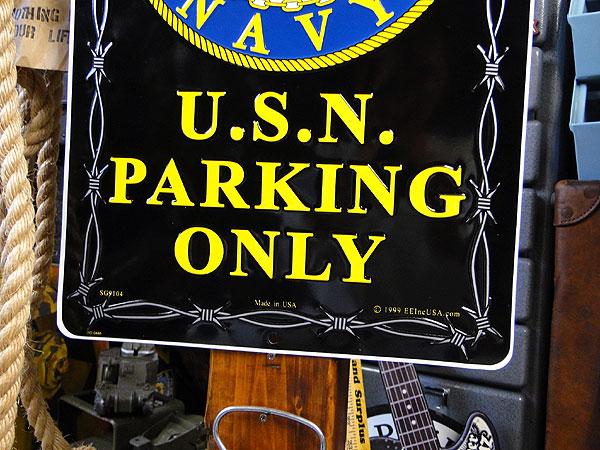 アメリカブリキ看板 U.S.ネイビーセーラー専用駐車場