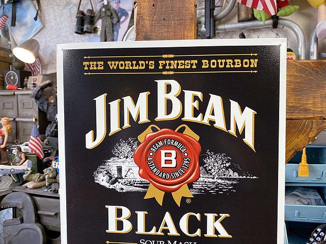 ジンビームのブリキ看板(ブラックラベル)