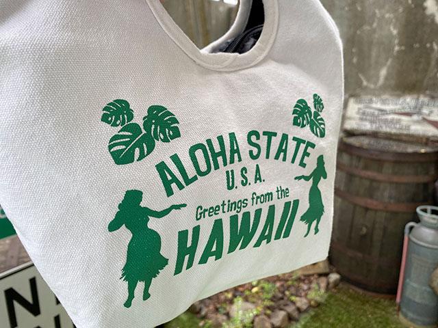 カルチャーマートのハワイアンミニトートバッグ(グリーン)