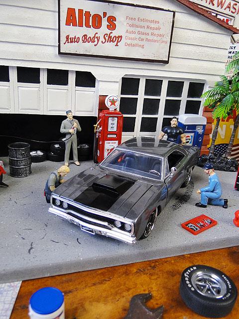 Jada 映画「ワイルドスピード」のダイキャストモデルカー 1/24スケール(ドム/1970年式プリムス・ロードランナー/ガンメタ)