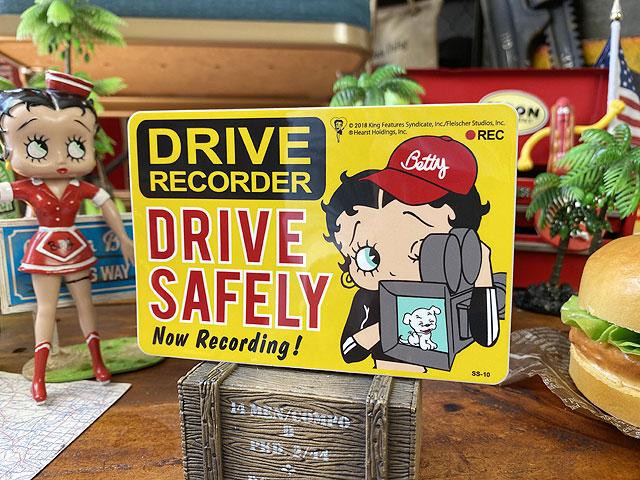ベティ・ブープのドライブレコーダー録画中ステッカー
