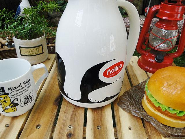 ドイツ ヘリオス社の卓上魔法瓶 サーモキャット ホワイト 1Lサイズ Helios