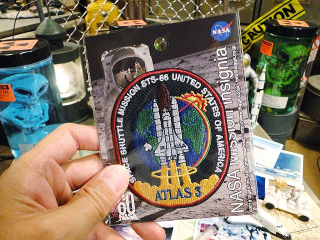 NASAオフィシャルワッペン(スペースシャトル/アトラス3)