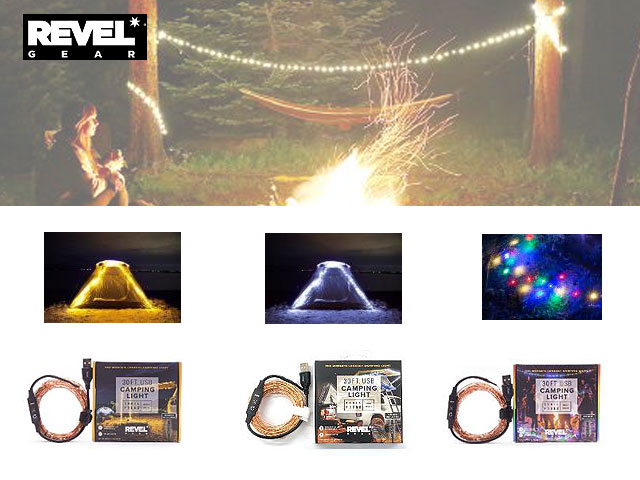 リュックに入る100球LEDムードライト レベルギア トレイルハウンド 全長9m わずか45g 防水・防塵 USB電源仕様