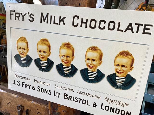 フライズ・ミルクチョコレートのブリキ看板