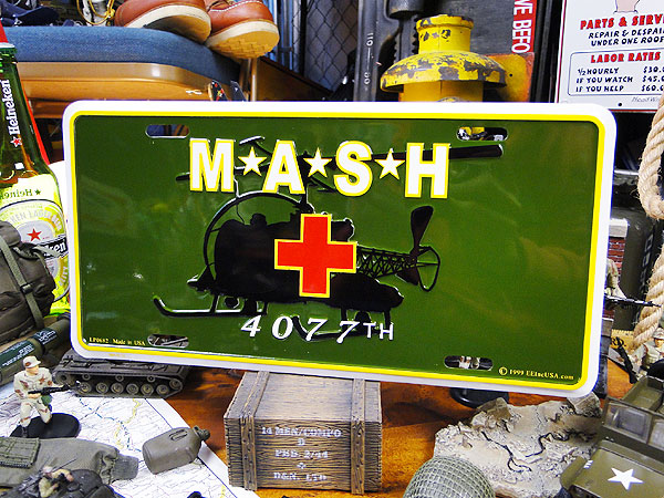マッシュのミリタリーライセンスプレート