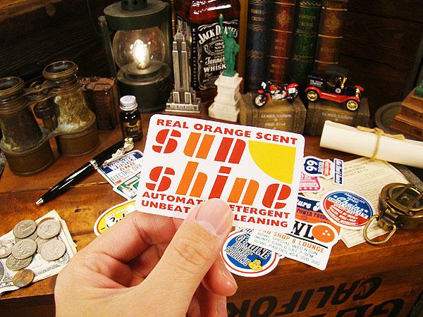 アメリカン・アドバタイジング・ステッカーLサイズ(No.39/SunShine)