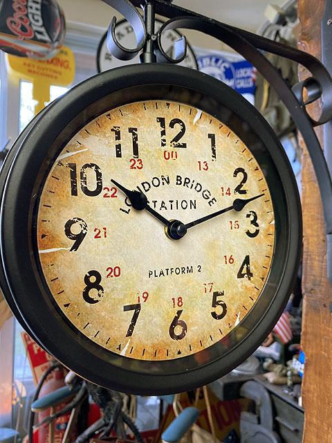 ステーションクロック(両面時計タイプ)