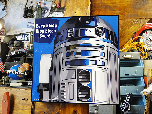 映画「スターウォーズ」のポップアートフレーム(R2-D2)