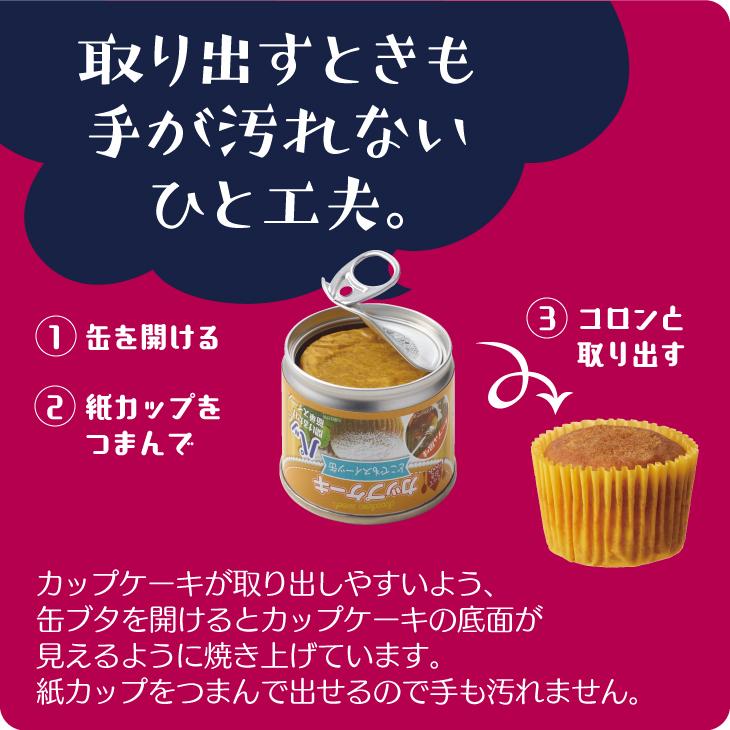 どこでもスイーツ缶 カップケーキ メープル風味50g 1缶