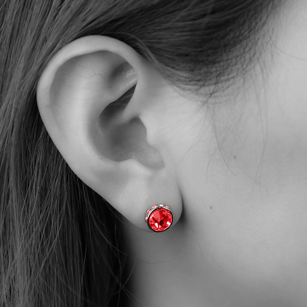 CP019-RED ワンポイントピアス(RED)