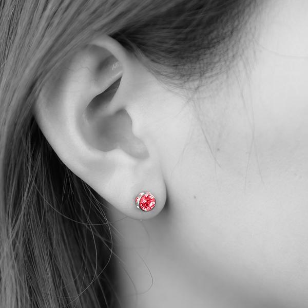 CP021-RED ミニワンポイントピアス(RED)