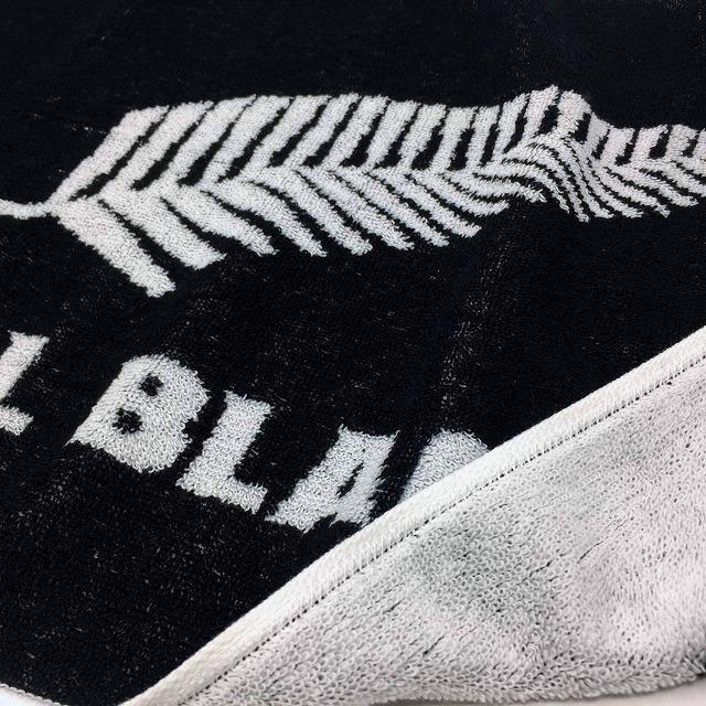 【ALL BLACKS】 オールブラックス ジャガード織 フェイスタオル ラグビー ニュージーランド代表 オフィシャルグッズ