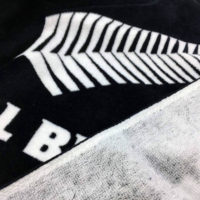【ALL BLACKS】 オールブラックス プリント フェイスタオル ラグビー ニュージーランド代表 オフィシャルグッズ
