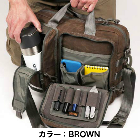 【クリアランスSALE】MAGFORCE(グフォース)Recruit Briefcase Waxed Cotton [MF-0343][Black、Brown][リクルート ブリーフケース ワックスコットン]