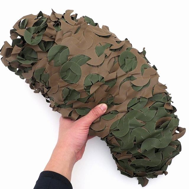 Camo System (カモシステム) カモフラージュネット Camouflage Netting OD-Brown(Woodland) [リバーシブル][2.4m x 3m]