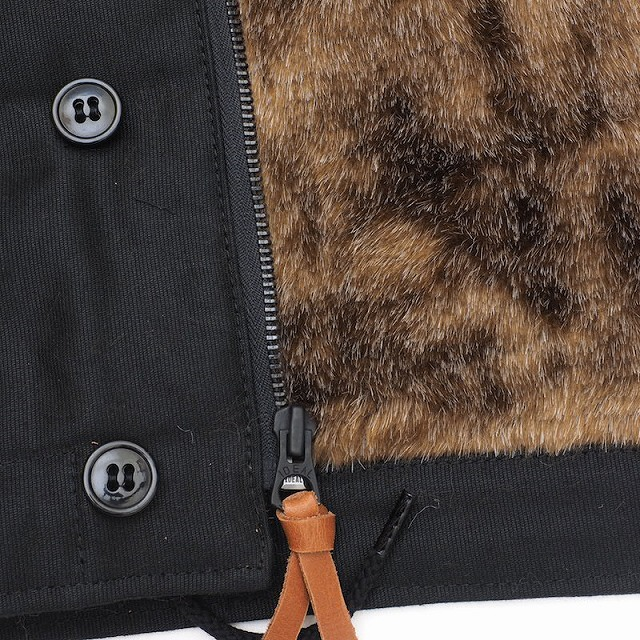 HOUSTON(ヒューストン)N-1 デッキジャケット ブラック【送料無料】