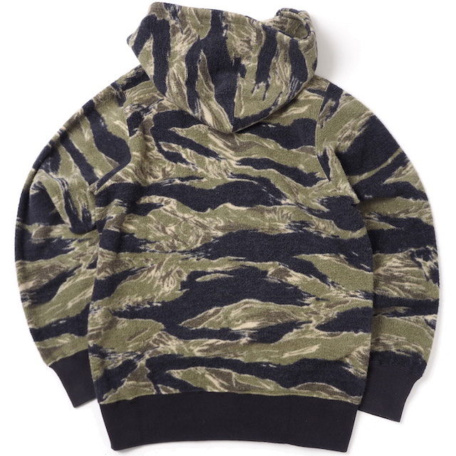 BUZZ RICKSON'S(バズリクソン)FULL ZIP SWEAT PARKA TIGER CAMOUFLAGE [BR68470]