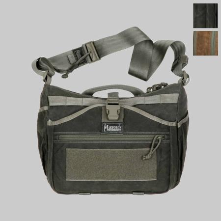 【クリアランスSALE】MAGFORCE(マグフォース)Gemini Sling Bag Waxed Cotton [MF-0498][Black、Brown][ジェミニスリングバッグ ワックスコットン]