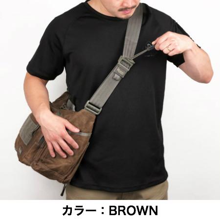 MAGFORCE(マグフォース)Gemini Sling Bag Waxed Cotton [MF-0498][Black、Brown][ジェミニスリングバッグ ワックスコットン]