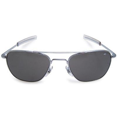AO(アメリカン オプティカル)パイロット サングラス 52mm Silver [ミリタリー仕様][ストレート テンプル]【送料無料】
