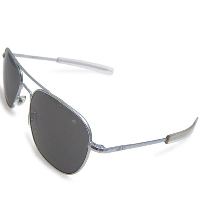 AO(アメリカン オプティカル)パイロット サングラス 57mm Silver [ラージ サイズ レンズ][ミリタリー仕様][ストレート テンプル]【送料無料】