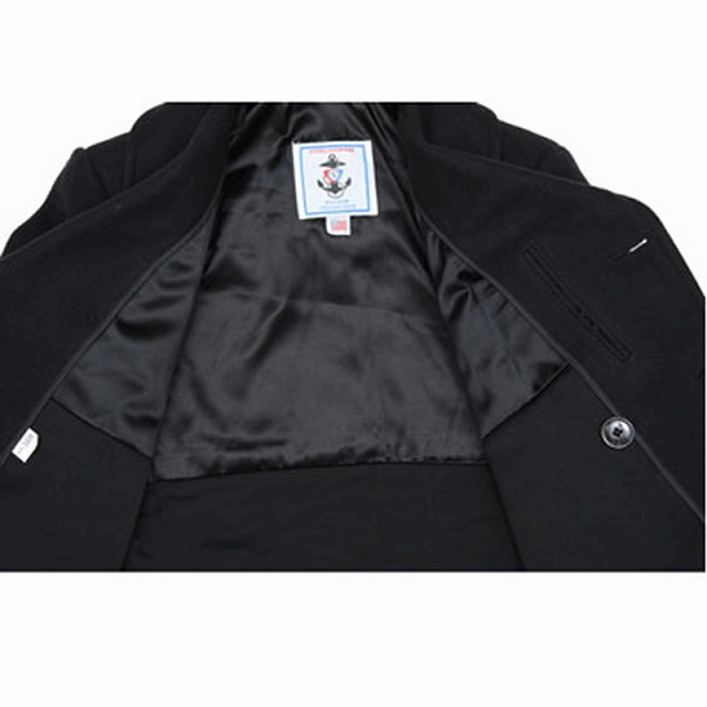 【Sterlingwear of Boston ステアリングウェア】PEA COAT ピーコート 6ボタン 24oz. ウール混紡 メルトン【送料無料】