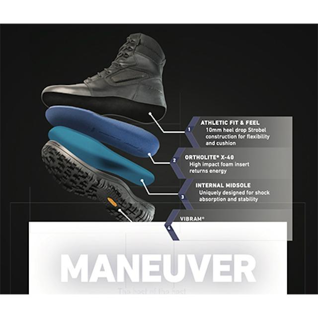 BATES(ベイツ) [5506]MANEUVER MID マヌーバー 6 BLACK [透湿性防水][Vibramソール]