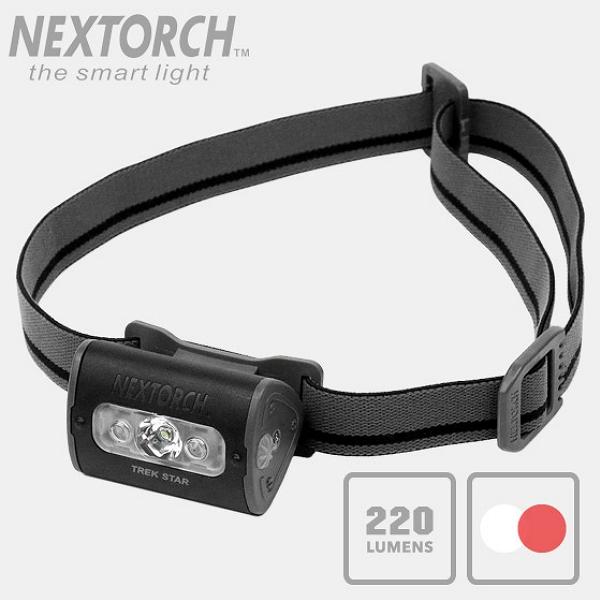NEXTORCH(ネクストーチ)TREK STAR ライトウェイト マルチモード LEDヘッドランプ [LEDカラー赤/白]