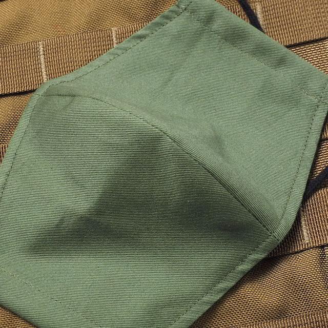 CAPTAIN TOMs ORIGINAL(キャプテントムオリジナル) 立体布マスク 抗菌クレンゼ生地使用  [OD陸上自衛隊カラー] 洗える フェイスガード 日本製