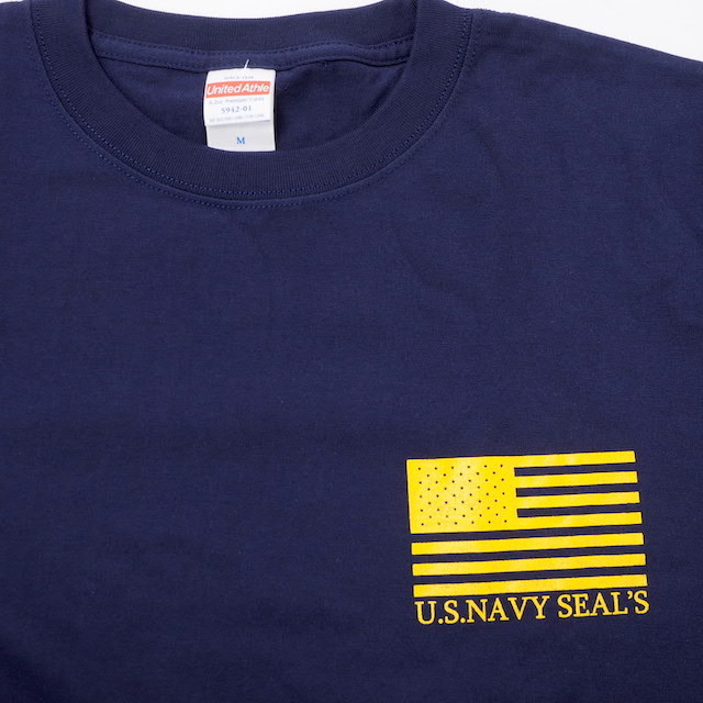 【Military Style/ミリタリースタイル】U.S NAVY SEAL Budweiser ネイビー シールズ バドワイザー バックプリント ショートスリーブ Tシャツ