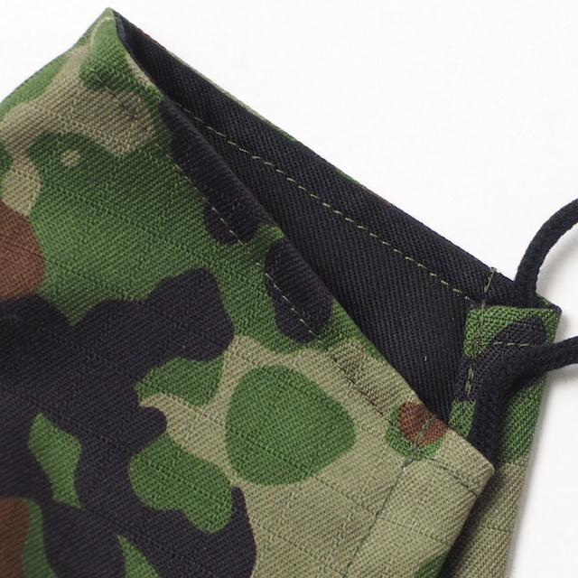CAPTAIN TOMs ORIGINAL(キャプテントムオリジナル) 立体布マスク 抗菌クレンゼ生地使用 [陸上自衛隊迷彩] 洗える フェイスガード 日本製