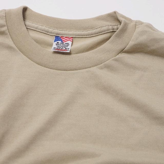 US(米軍放出品)ミリタリー Tシャツ サンド ポリエステル100% [イレギュラー] [Made in U.S.A]