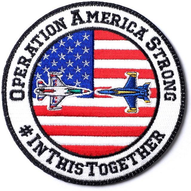 【ミリタリーパッチ】OPERATION AMERICA STRONG パッチ [フック付き]