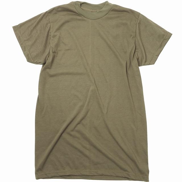 US(米軍放出品)ミリタリー Tシャツ TAN499 ポリエステル100% [イレギュラー] [Made in U.S.A]