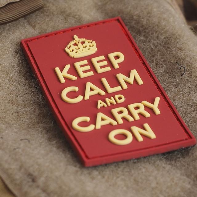 【ミリタリーパッチ】Keep Calm PVCパッチ [ベルクロ付き]