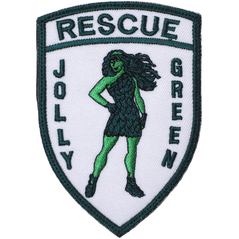 【ミリタリーパッチ】33RD JOLLY GREEN レディ シールド型 [フック付き]