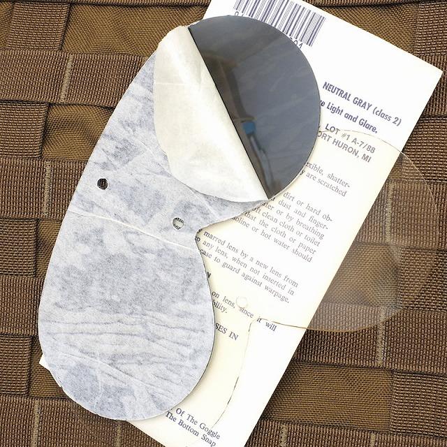 US(米軍放出品)ダストゴーグル用スペアレンズ クリア&スモークグレー