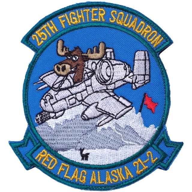 【ミリタリーパッチ】RED FLAG ALASKA 21-1 25TH FIGHTER SQUADRON [2種][フルカラー][スパイスブラウン]